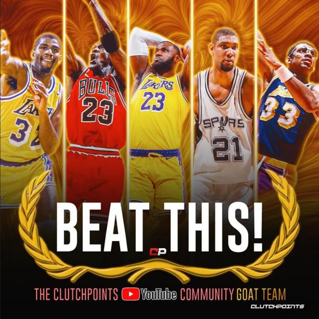 魔神詹佛天!这才是NBA史上真正的最强阵容