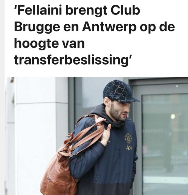 比利时媒体:费莱尼明年1月转会土超 双方签短合同