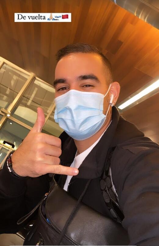 广州城外援卡尔多纳晒照 结束假期启程返回中国