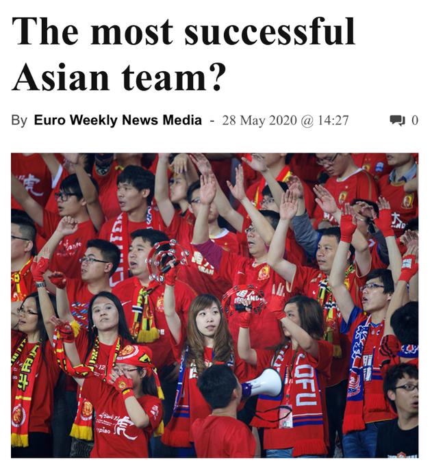 飞讯-恒大被评亚洲最佳 大连人外援打算回中国踢球