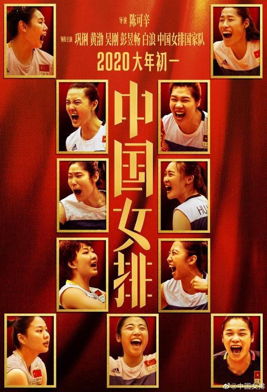 电影《中国女排》海报