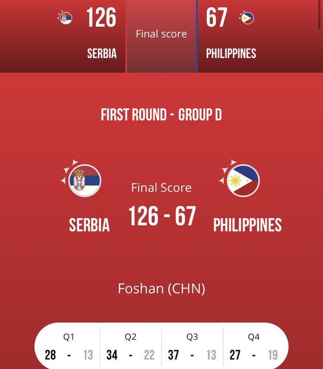 【博狗体育】美国队单节7分啥水平?倒1的菲律宾都比他们猛!