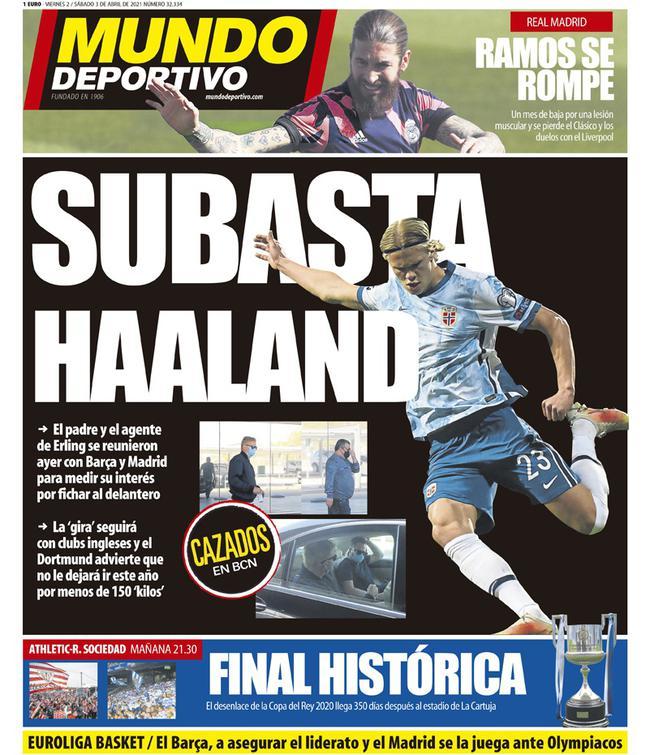 曝巴萨许诺给哈兰德队内第二高薪 仅次于梅西