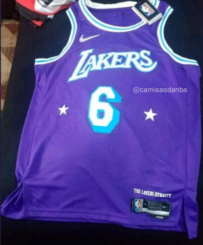 湖人新赛季新款球衣曝光:紫色主题还带星星标