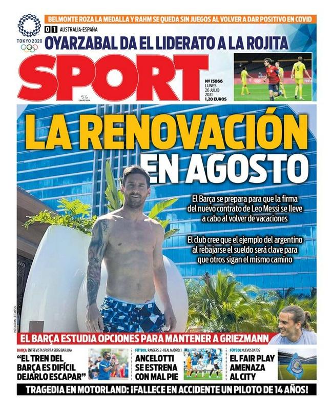 加媒:巴萨8月份与梅西续约  度假结束后就签约