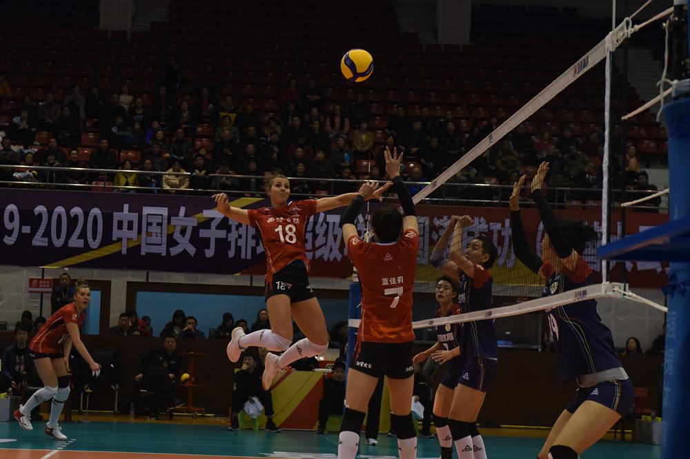 9-10名排位賽浙江女排3-0四川 朱悅洲砍下26分