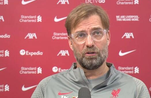 利物浦主帅克洛普再次为爱将菲尔米诺辩解