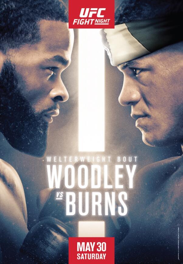 UFC on ESPN 9:伍德利 VS 伯恩斯