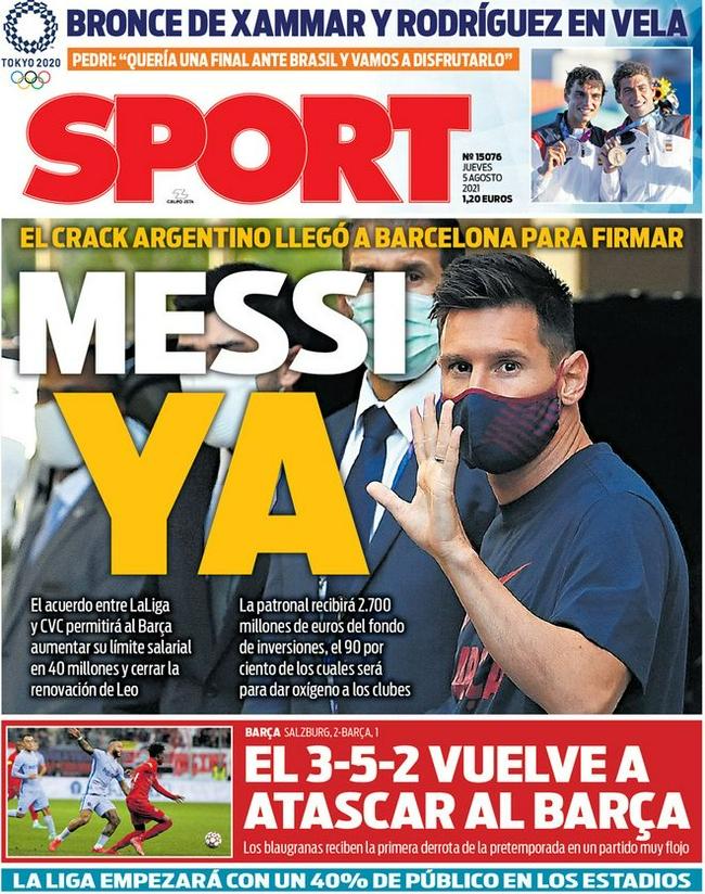 梅西结束假期返回巴塞罗那  西媒:即将与巴萨续约