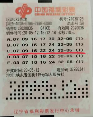 鐵桿粉10元攬雙色球1000萬 去年就差點中一等獎!