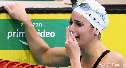 麦基翁打破女子100米仰泳世界纪录 锁定奥运资格
