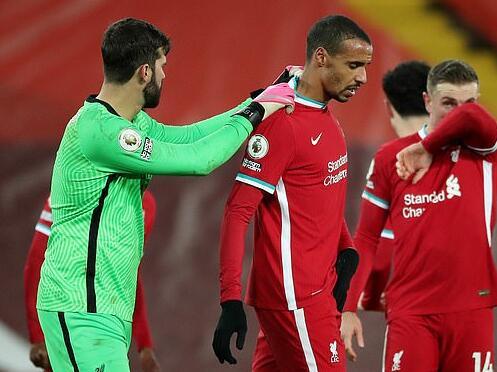 利物浦苦盼中卫复出打曼联 他若赶不上就用这组合?