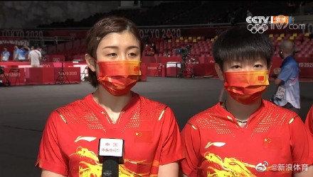 陈梦:我们仨都是奥运新人 对未来团体非常有信心