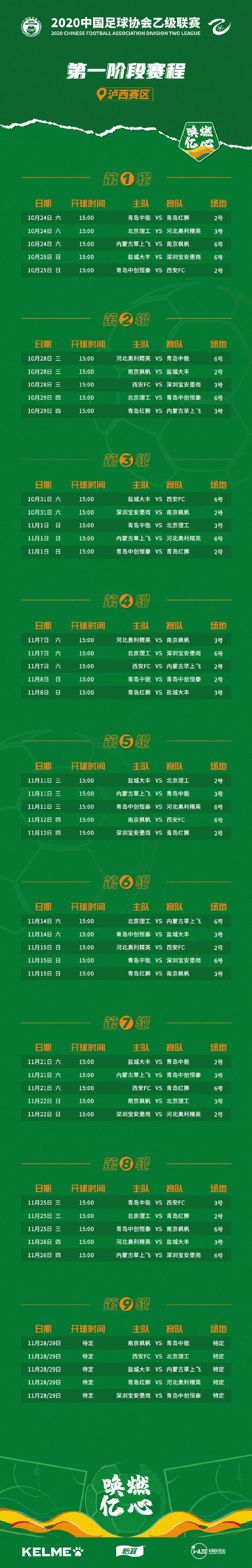 中乙联赛赛程赛制公布 每组前两名晋级争中甲资格