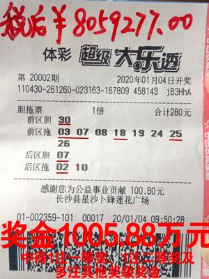 70后彩民擒大樂透1005萬笑稱好運:不久前剛中4+1