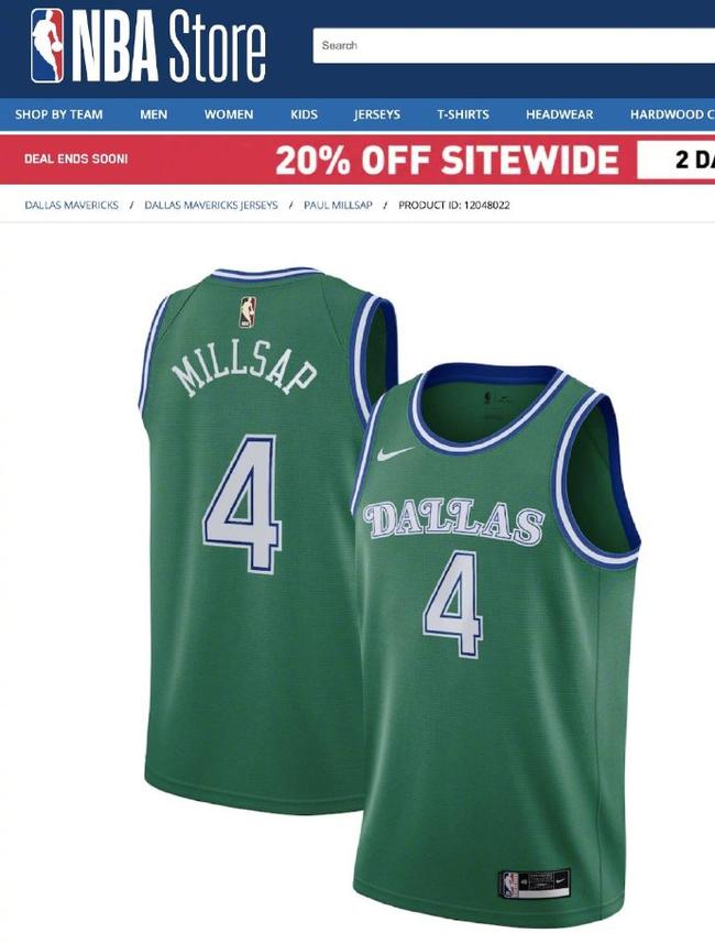 NBA录播实锤!官方竟上架米尔萨普的独行侠球衣
