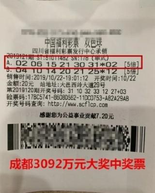 """浙老板""""異地中獎""""攬雙色球3092萬:好運氣沒誰了"""