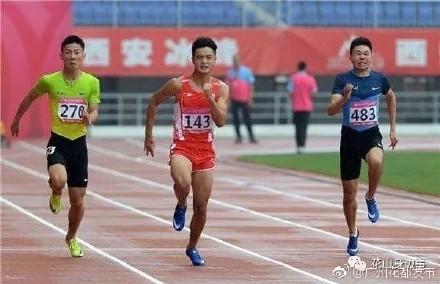 广东00后小将百米夺冠 今年四次撬开10秒4大关