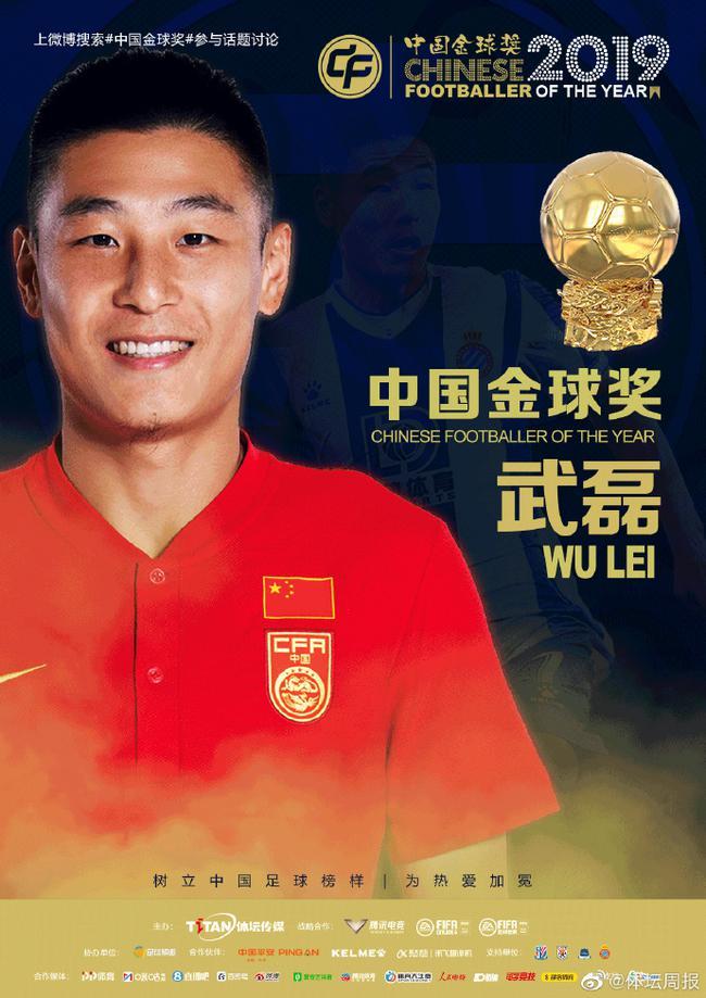 2019年中国金球奖出炉:武磊蝉联 王霜三连庄