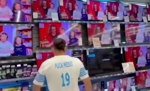 法甲马赛球迷身穿侮辱梅西球衣:Fxxx 梅西!
