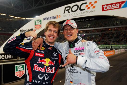 维特尔与迈克尔-舒马赫一首曾经不息六次参赛ROC