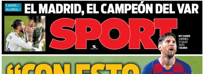 《每日体育报》:皇马是VAR冠军