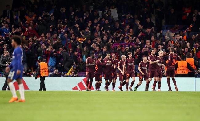 欧冠-梅西首破蓝军救主 切尔西2中立柱1-1平巴萨