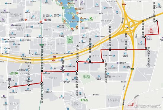 西安曲江再增一条公交线路 12月28日起新开167路