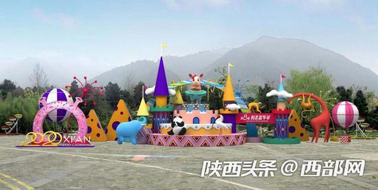 西安秦岭野生动物园布展示意图。