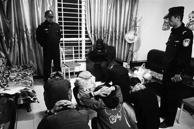 经开警方端掉25个涉传窝点 母亲带着5岁孩子搞传销