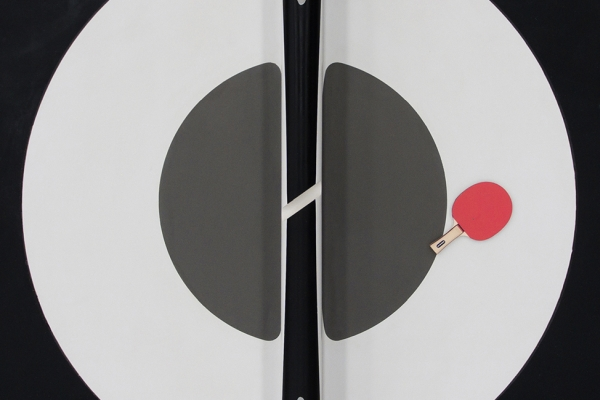 凹面条纹乒乓球桌 让连续对打时间更长