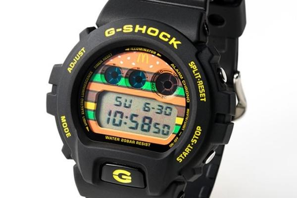 麦当劳联手G-SHOCK推出巨无霸50周年联名表