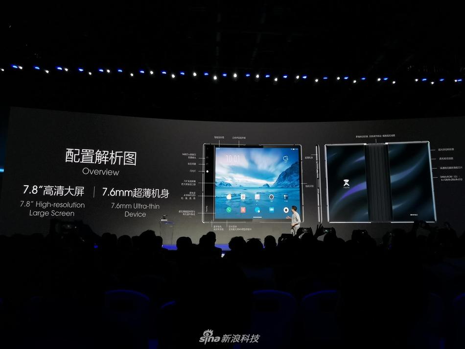 全球首款可折叠屏手机FlexPai柔派:8999元起(1)