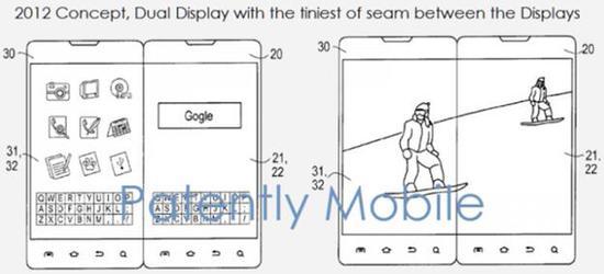 2012年的双屏概念专利(图片:cwwz.net)