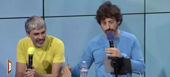 2016 年,两位联合创始人在谷歌TGIF 会议上