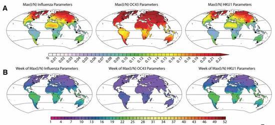 全球范围内流行的峰值和出现的时间