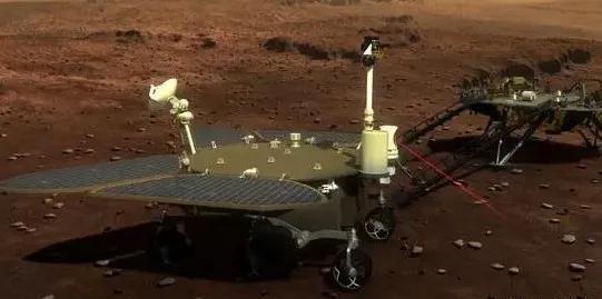 中国第一个火星车外观设计构型图