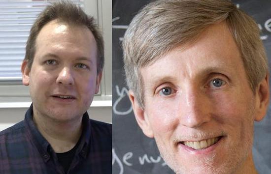 ▲Andrew Booker (左)是布里斯托大学数学教授,Andrew Sutherland(右)是麻省理工学院数学系首席研究科学家