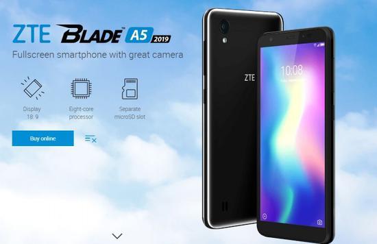 中兴推出更实惠Blade A5手机,搭载紫光展锐SC9863A芯片