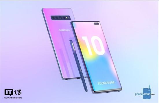 ▲外媒制作三星Galaxy Note 10渲染图