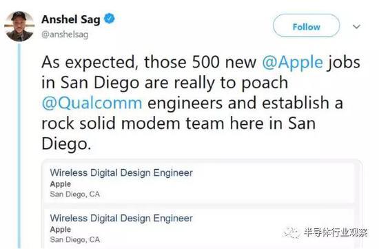 Twitter上�τ谔O果在圣地��哥大�e招募5G基�Чこ��的��