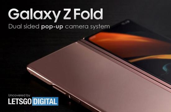 带有弹出式摄像头的三星Galaxy Z Fold设计专利曝光
