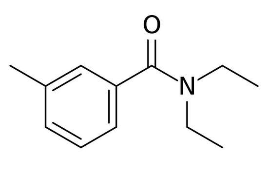 DEET化学式(图片来源:wiki)