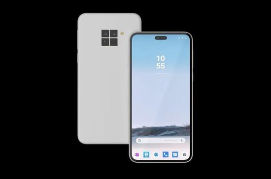 微软Surface Duo Phone渲染图曝光,前置双摄镜头后置方形镜头组