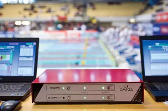 图2 伦敦奥运会游泳项目使用的量子计时装置