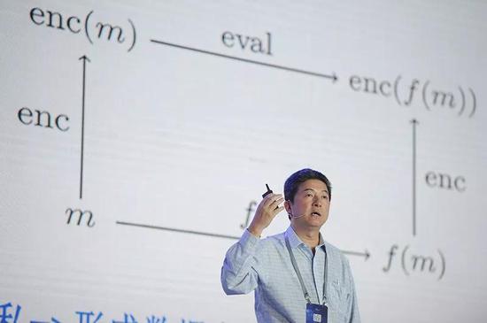 张首晟在美国斯坦福大学发外演讲。来源:VCG via Getty
