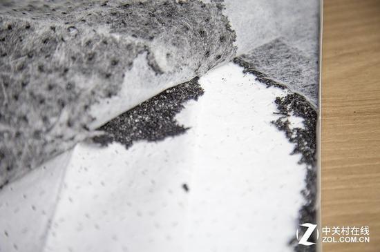 夹炭布中的炭:碎