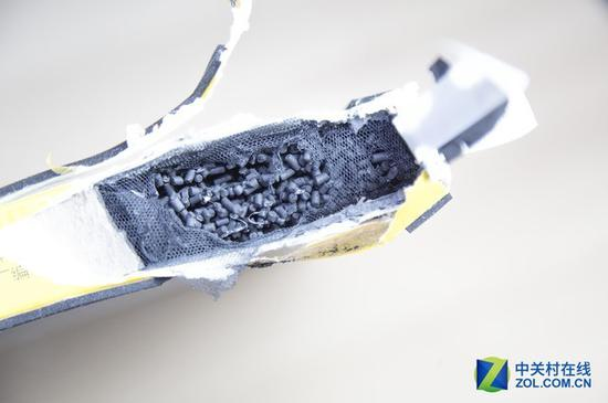 多层黏炭:柱状炭