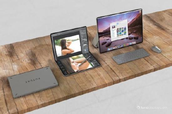苹果折叠屏iPad概念图(图源网络)