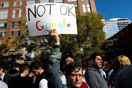 参与抗议活动的谷歌员工
